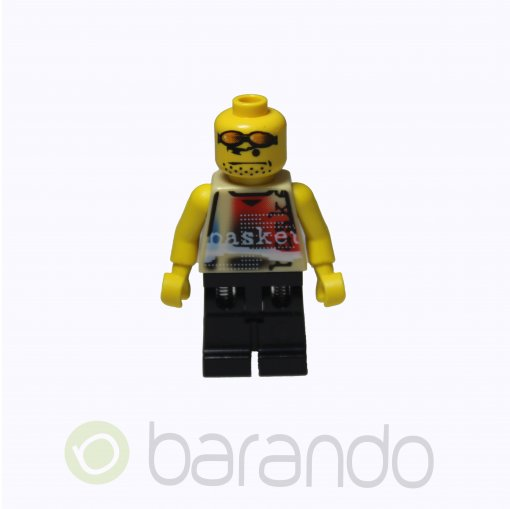 LEGO Basketball Street Player, Tan Torso and black Legs #2 nba055 Sports
