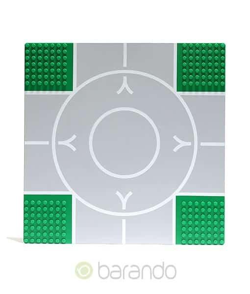 Lego Platte 2361px2 Straßenplatte grün Kreuzung