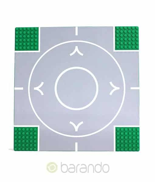 LEGO Platte 44343pb02 - Straßenplatte Kreisel