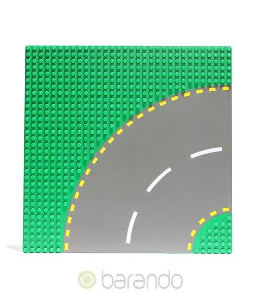 Lego Platte 44342pb01 Straßenplatte grün Kurve