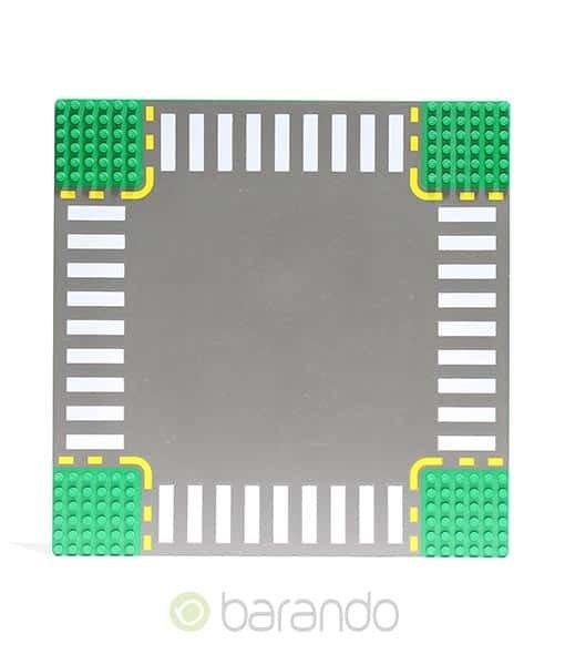 Lego Platte 44343pb01 Straßenplatte grün Kreuzung