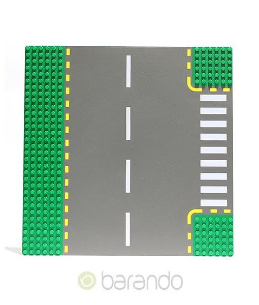LEGO Platte 44341pb01 - Straßenplatte T-Kreuzung