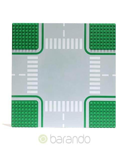 Lego Platte 611p01 Straßenplatte grün Kreuzung