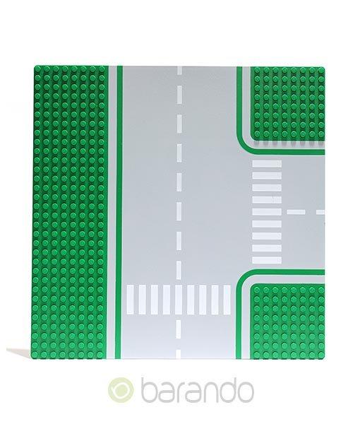 Lego Platte 612p01 grün als Straßenplatte T-Kreuzung